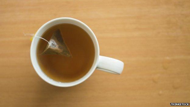 tea bag in cup