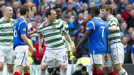 Celtic striker Anthony Stokes in an Old Firm game