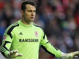Middlesbrough goalkeeper Shay Given