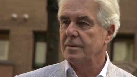 Max Clifford outside Southwark Crown Court on April 15