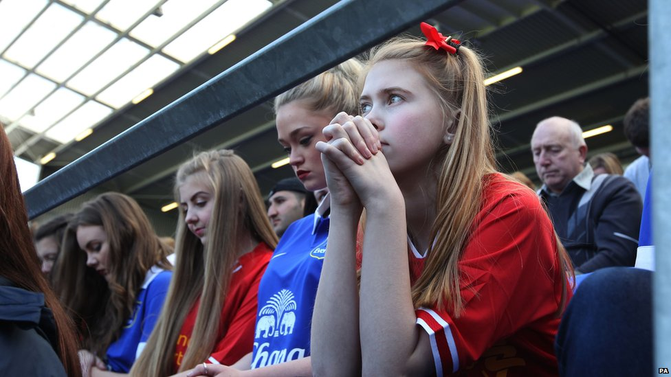Young fans joined the families of victims of the tragedy.