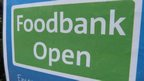 Foodbank open sign