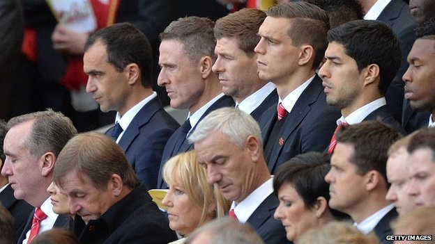 Roberto Martinez, Steven Gerrard, Daniel Agger, Luis Suarez, Daniel Sturridge, Kenny Dalglish, Ian Rush and others