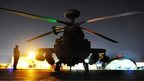 Picture dated 11/12/2012 of an Apache Helicopter in Camp Bastion