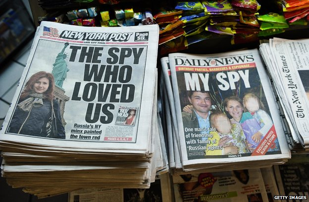 Headlines about the 2010 spy case