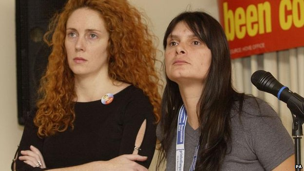 Rebekah Brooks and Sara Payne in 2002