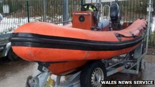 One of the speedboats involved in the crash