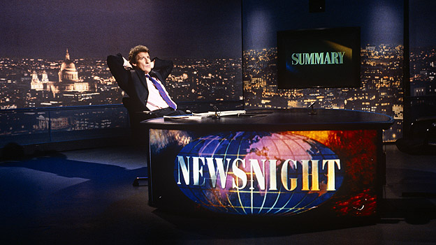 Jeremy Paxman during a moment off air on Newsnight