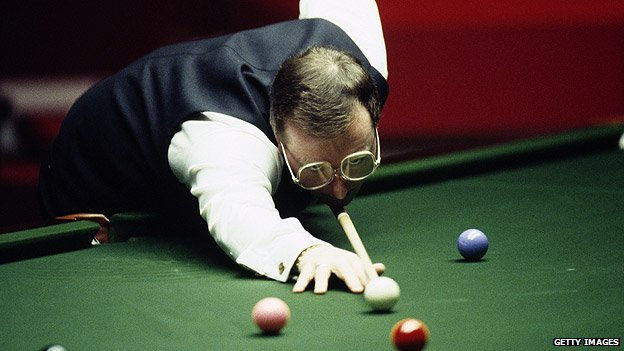 Dennis Taylor in the World Snooker Final 1985, which is thought to have attracted BBC Two's highest audience