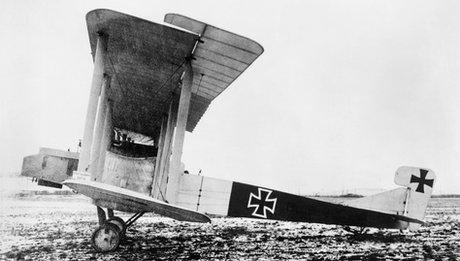 German Gotha bomber plane