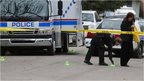 Police officers at scene of mass stabbing in Calgary