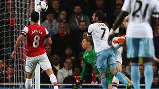 Matt Jarvis heads West Ham in front