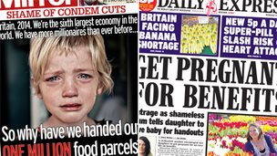 Composite image of Mirror and Express front pages