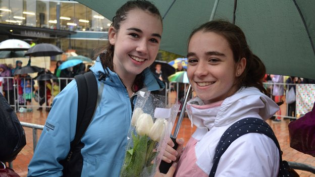 Sophie Stewart (left) and Lauren Hansen, both 16, felt the event was their chance to be part of history