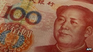 Mainland China 100 Yuan notes