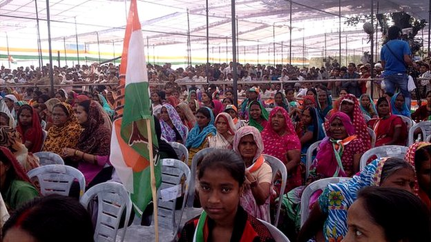 Congress party rally in Pratapgarh