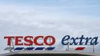 A Tesco supermarket logo