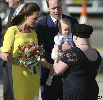 Duke and Duchess of Cambridge, Prince George and Joscelyn Sweeney