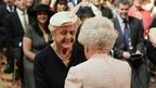 Dame Angela Lansbury and the Queen