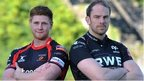 Andrew Coombs and Alun Wyn Jones