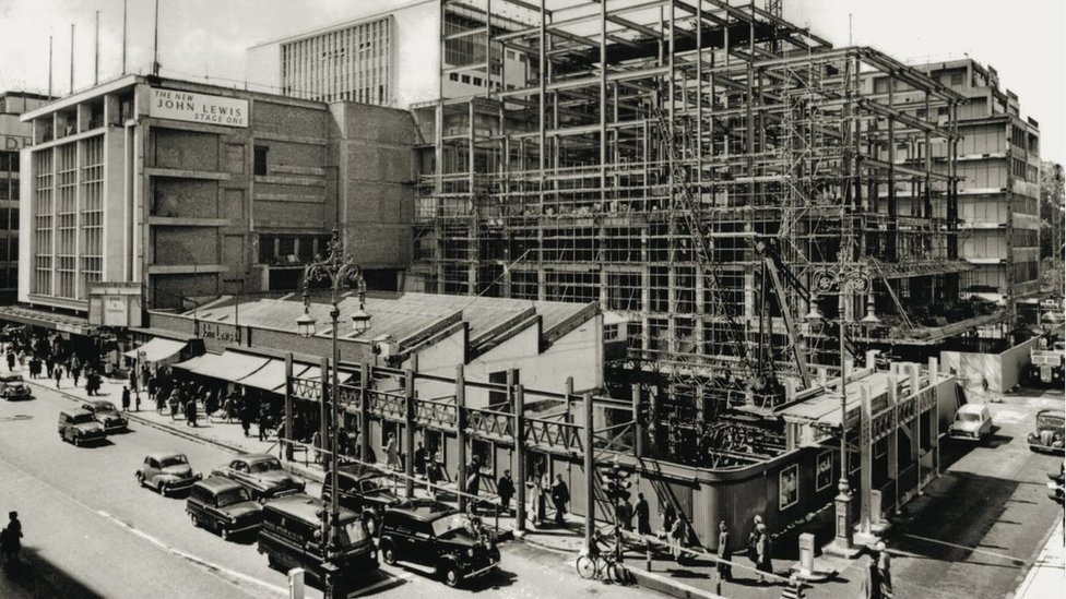 Construction of John Lewis store on Oxford Streets