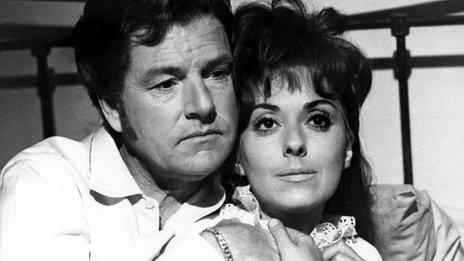 Kenneth More (Young Jolyon) and Lana Morris (Helen) star in early BBC Two hit The Forsyte Saga, which went out in 1967