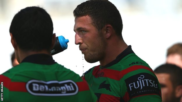 Sam Burgess of the South Sydney Rabbitohs
