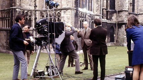 Kenneth Clark in Canterbury for 13-part Civilisation in 1969