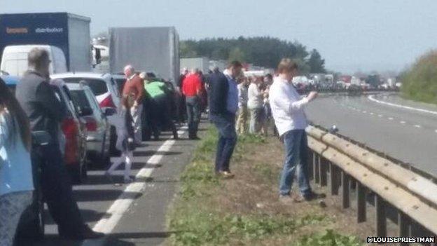 M26 crash picture