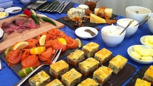 Buffet at Redcar windfarm launch