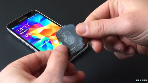 Galaxy S5 and fingerprint mould