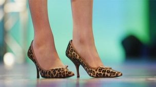 Theresa May's shoes at the 2004 Conservative party conference