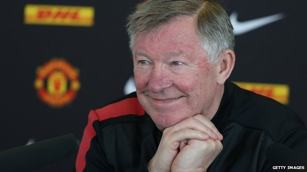 Sir Alex Ferguson, pictured at a press conference in 2013