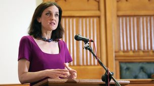 Theresa Villiers making speech