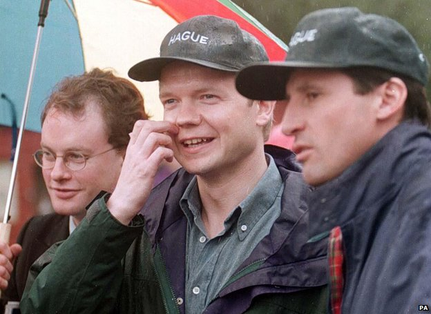 William Hague at a theme park in 1997
