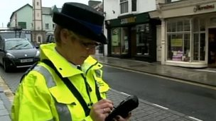 A civil enforcement officer in Ceredigion