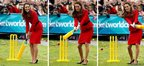 Duchess of Cambridge plays cricket