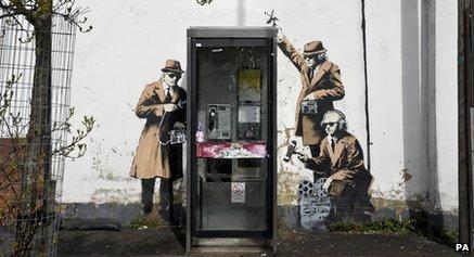 Banksy artwork in Cheltenham