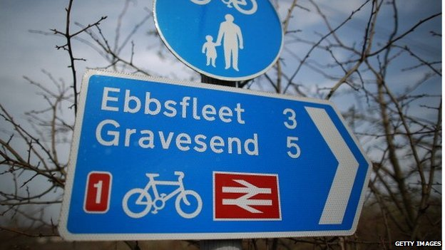 Ebbsfleet road sign
