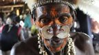 Member of Asmat tribe in Papua