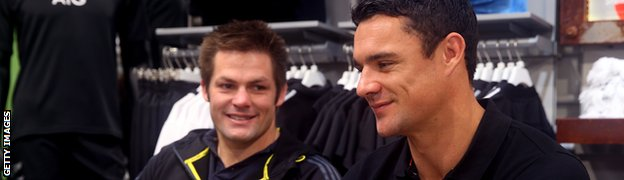 Richie McCaw and Dan Carter