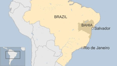 map of Bahia