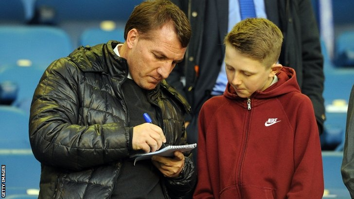 Liverpool boss Brendan Rodgers (left)