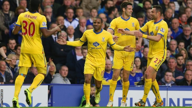 Jason Puncheon celebrates his goal