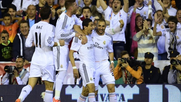 Real Madrid celebrate goal