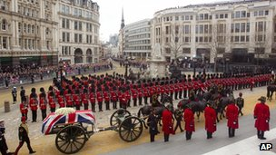 The funeral of Margaret Thatcher
