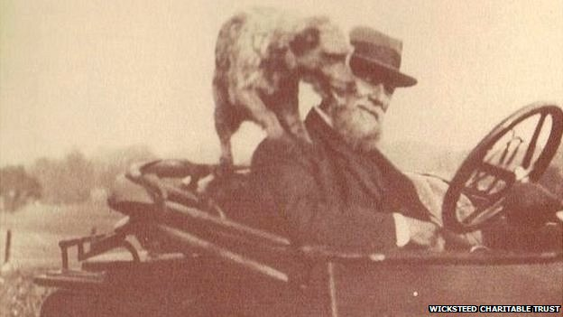 Charles Wicksteed and his dog