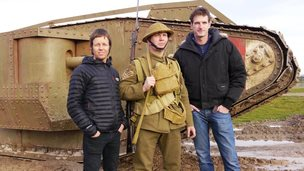 Dan Snow, Michael Douglas and a soldier