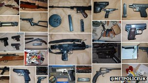 Guns seized by police