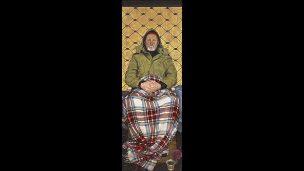 Thomas Ganter's Man With a Plaid Blanket
